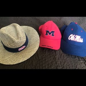 3 ole miss hats